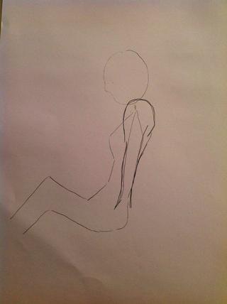 Ahora haga los hombros más alto, y también dibujar los brazos ...