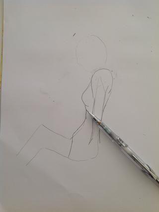Ahora terminar de dibujar el pecho y el estómago ...