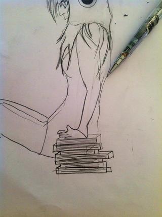 Ahora bien, si desea que la chica como ella está poniendo sus manos en los libros que usted debe hacer que su mano no directamente ....