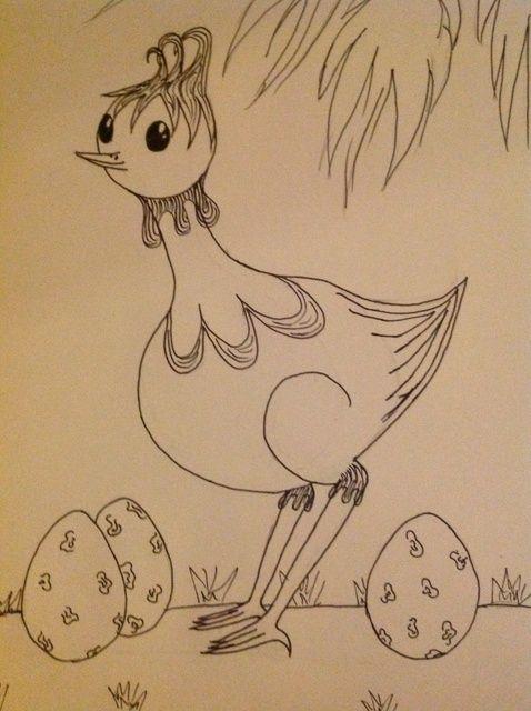 Cómo dibujar un pájaro de dibujos animados exótica ??????