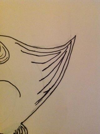 Y dibujar el detalle en la cola