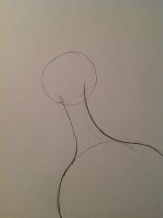 Dibuja un círculo más pequeño para la cabeza