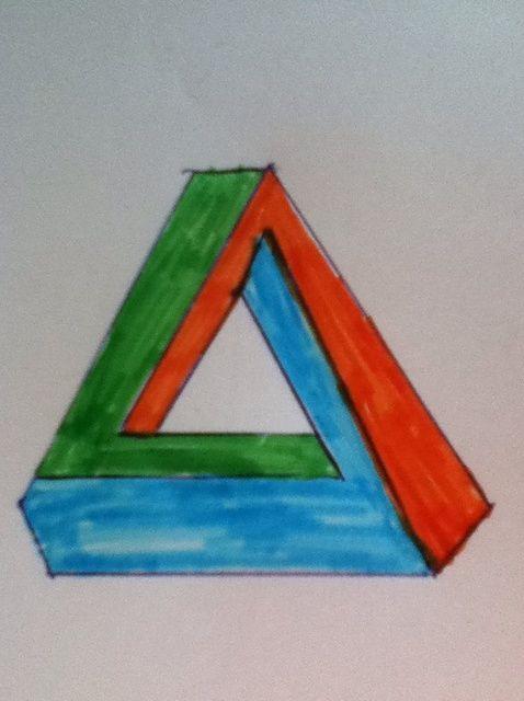 Cómo dibujar un triángulo imposible