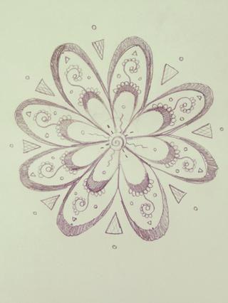 Y usted tiene un hermoso, abstracto y complejo entramado de flor !!