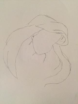 Terminar de dibujar el resto del pelo! ????????????