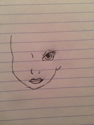 Comienza a dibujar los ojos.