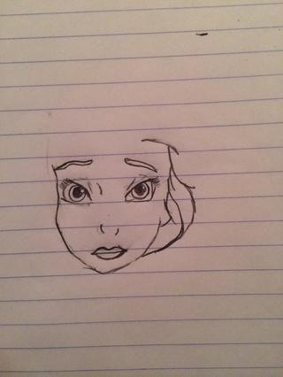 Empezar a dibujar el pelo. :)