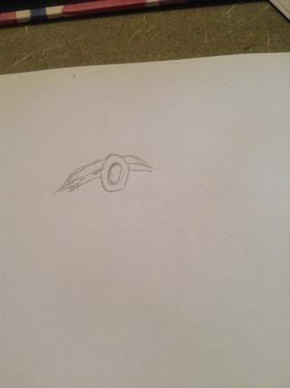 Dibujar el resto de la banda para la cabeza y la parte superior de la cabeza.