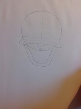Añadir dos curvas para una boca.