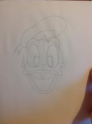 Dibuja Donald's hat.