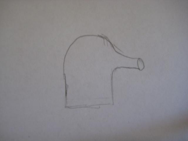 Después de eso, dibujar una forma revés C en el tronco.