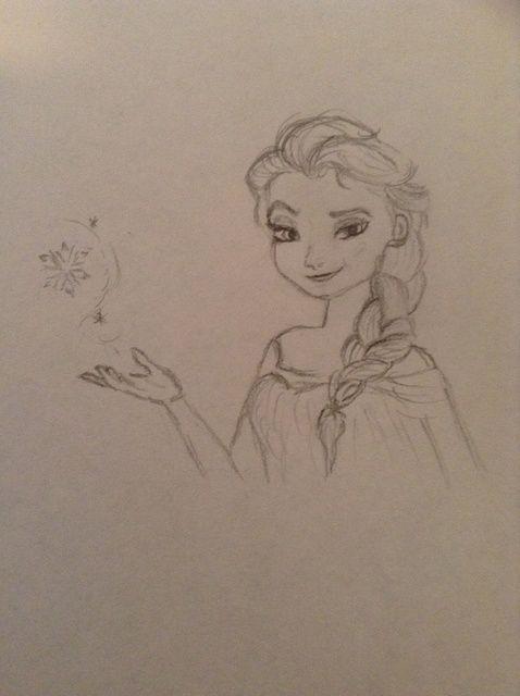 Cómo dibujar Elsa De Congelados