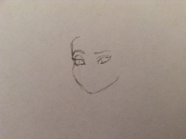 Ahora empezar a dibujar los ojos. Don't forget the eyebrows.