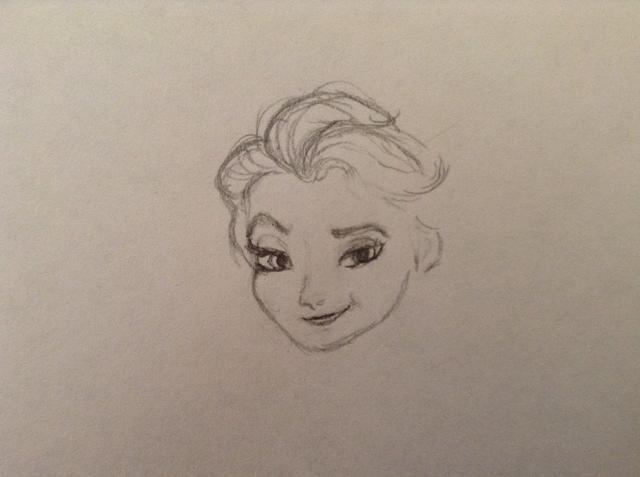 Ahora empezar a dibujar el pelo. Haga sus trazos de lápiz suelta y fluida.