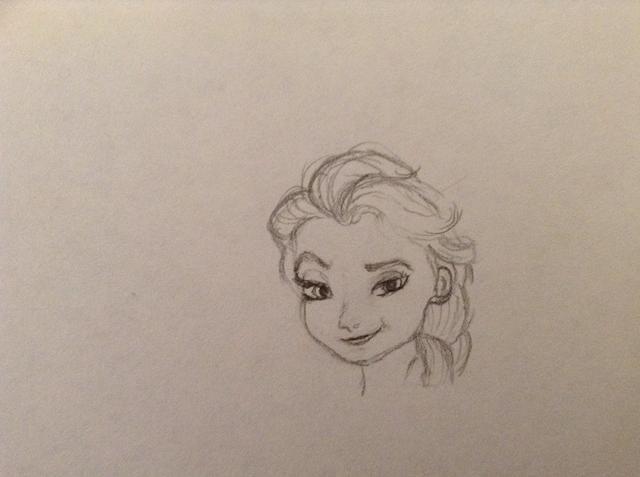 Siguiente empezar a dibujar la trenza. Dibuja el contorno de la forma del cabello y luego rellenar la textura del cabello.