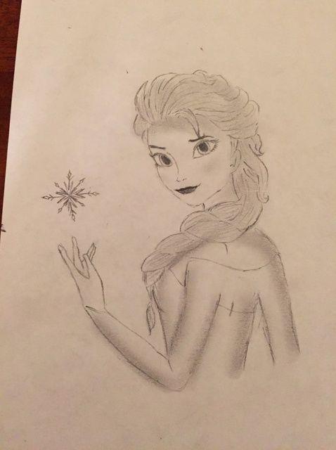 Cómo dibujar Elsa