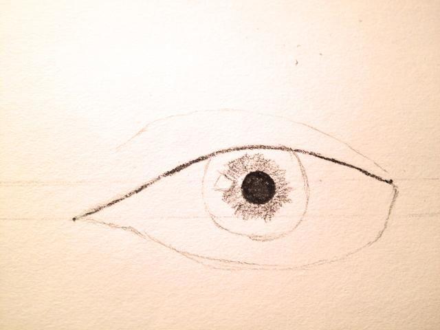 Ligeramente sombra alrededor del círculo pequeño.