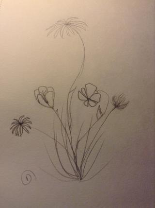 u puede hacer esta técnica con cualquier flor! lo siento, esto es probablemente una técnica muy común, pero lo que realmente me ayudó :)