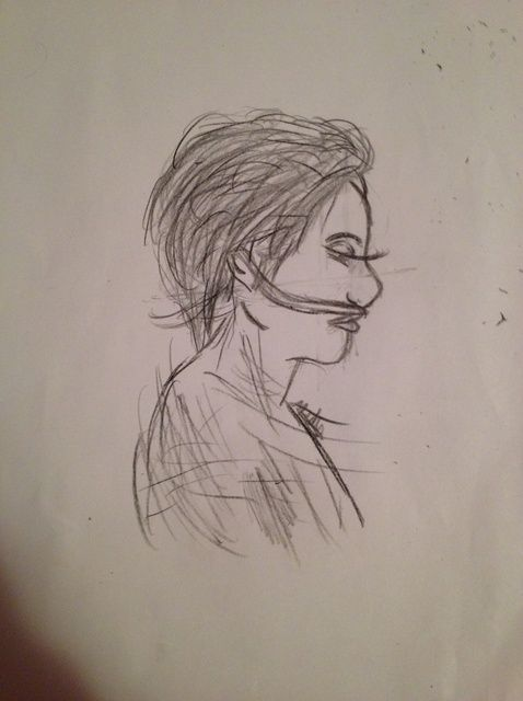Cómo dibujar Hazel Gracia de la falla en nuestras estrellas.