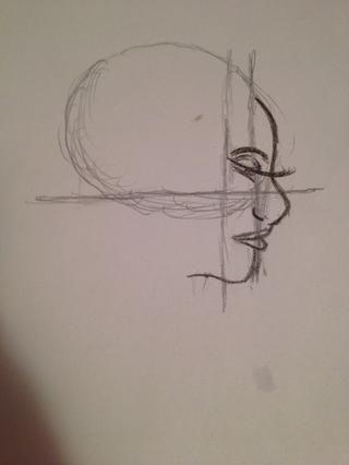 Dibujar en el alumno (a sólo un punto negro) y la ceja, sólo puede hacer una curva por encima del ojo