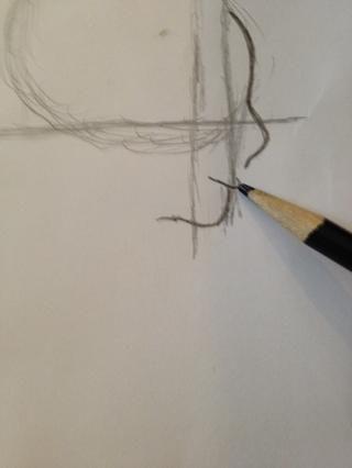 Dibujar una forma que se asemeja a un anzuelo de pesca