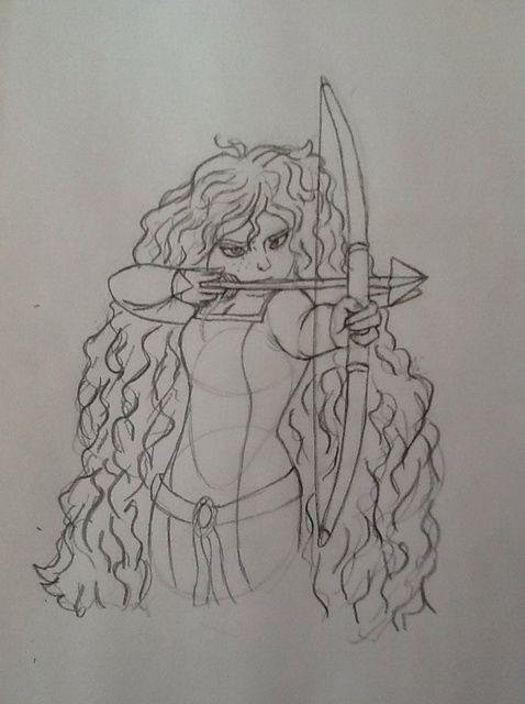 Cómo dibujar Mérida De Brave