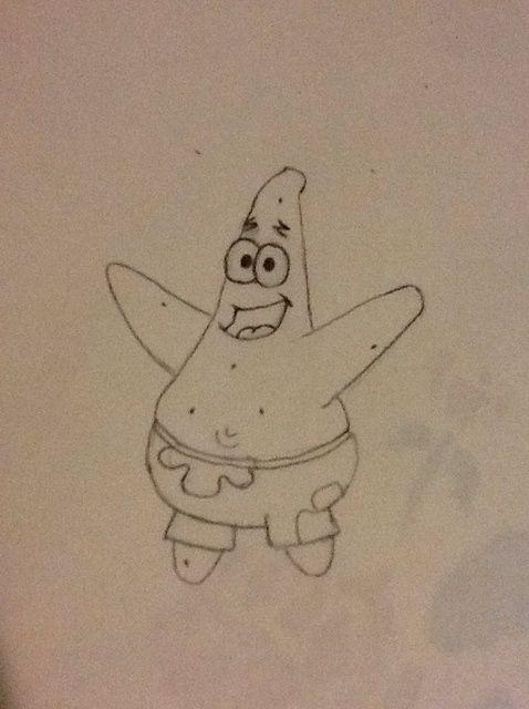 Cómo dibujar Patricio Estrella