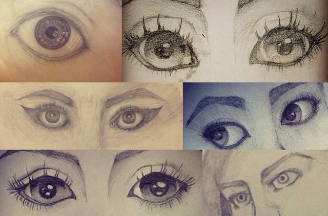 Tengo dibujar un montón de ojos en mi vida (todos ellos son minas). Pero nunca he sacar una igual a otro