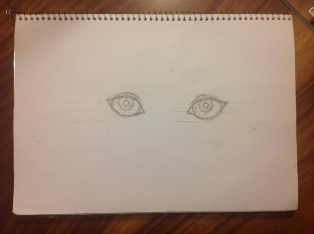 Dibuja la pupila del ojo. Puede estar en la posición que quiera, también puede ser tan grande o pequeño como usted quiera. Después de todo, es que dibuje.