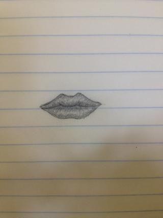Entonces ahí lo tienen un labio realista dibujado