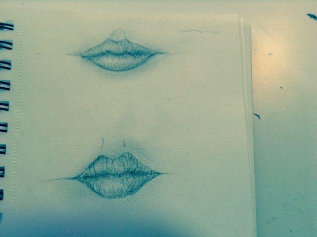 Cómo dibujar los labios semi-realistas