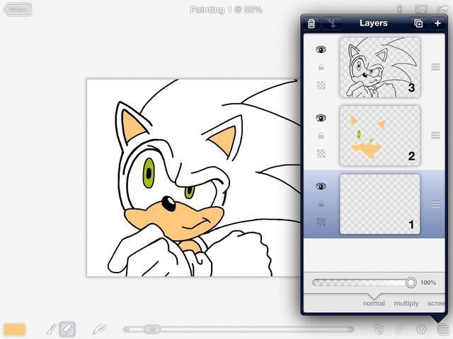 Creación de múltiples capas también ayuda a lo que don't undo the colors you just put down. Stack accordingly.
