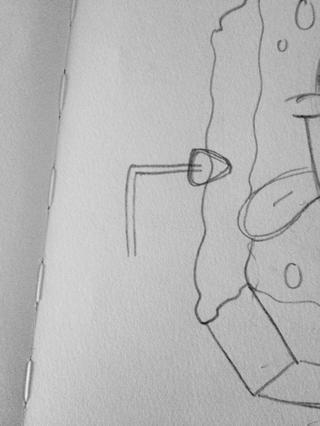 Dibuja el brazo flaco en un ángulo recto (casi).