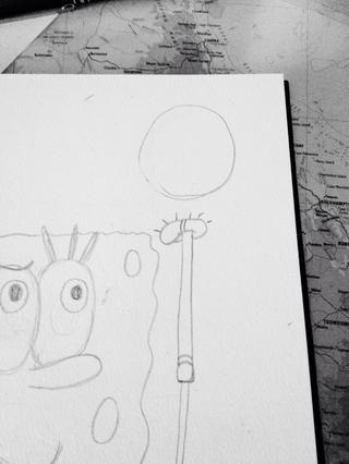 Dibujar el balón de fútbol por encima de su pie derecho!