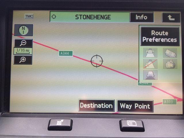 Una vez que seleccione un lugar que se mostrará en el mapa. Usted puede alejar comprobar que no van a Stonehenge en Escocia. Siempre vale la pena un doble control! :) Pulse Destino Una vez listo.