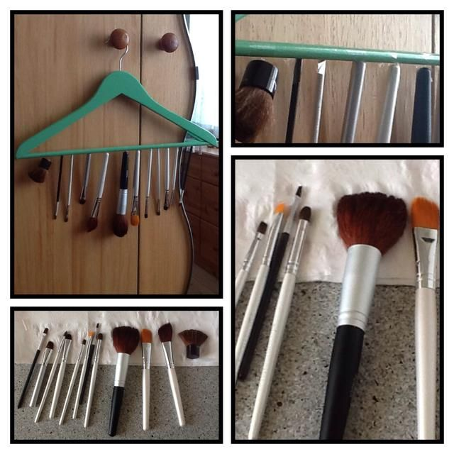 Eso's it! So simple! Now wait until they are all dry, remove the tape and use your nice clean brushes again! If you got any other ideas on how to dry your brushes please leave a comment ��