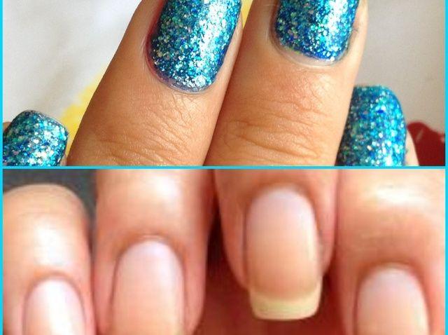 Cómo quitar fácilmente Glitter Nail Polish