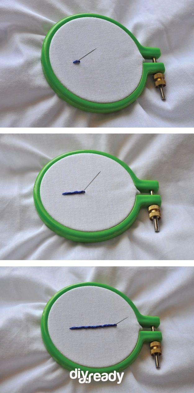 Fotografía - Cómo hacer The Split Stitch | Bricolaje Bordado puntos de sutura