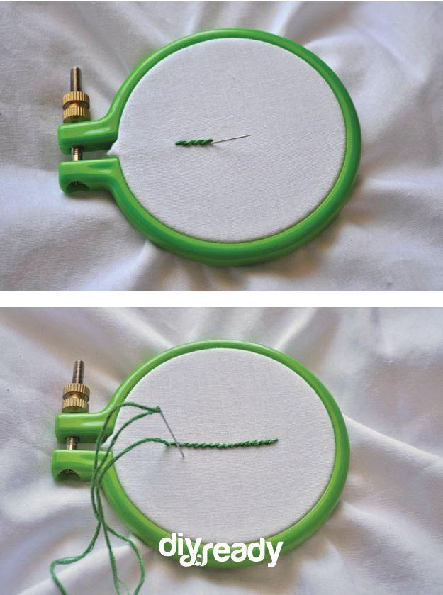 aguja enhebrada