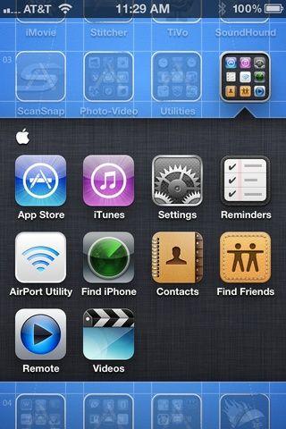 Busque y toque en el icono de configuración
