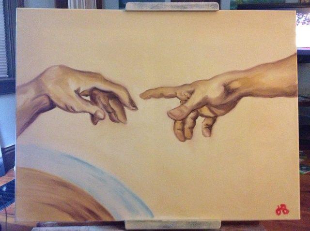 Cómo Fingerpaint la creación de Adán
