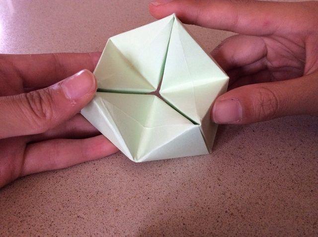 Cómo doblar una hexaflexagon Origami
