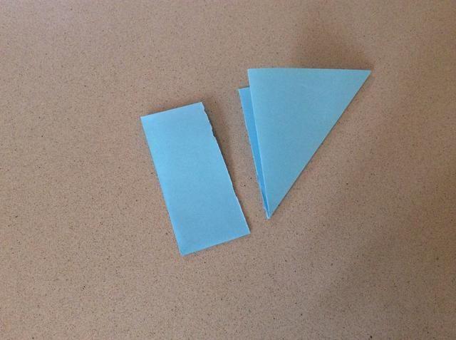Corte el exceso de papel.