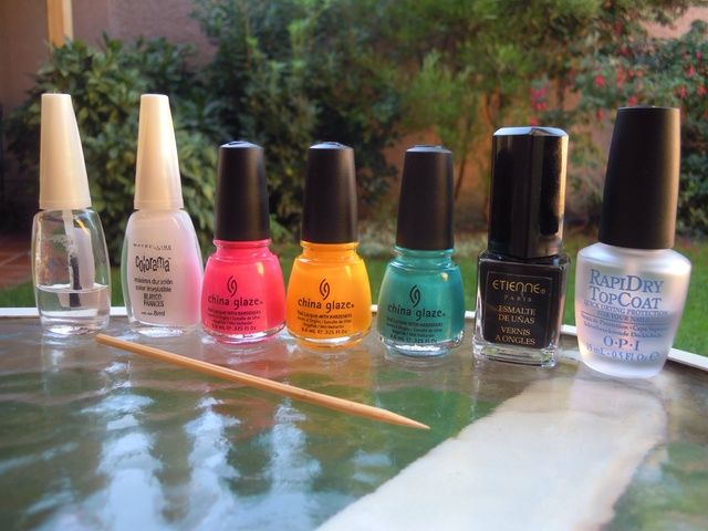 Estos son los colores que he usado.