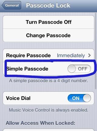 Gire sencillo código de acceso fuera