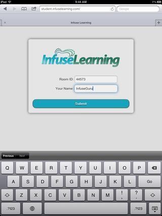 El dispositivo de estudiante, introduzca