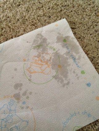 La plancha se calienta la cera que se absorbe por la toalla de papel. Repita tantas veces como sea necesario. Gire la toalla para max. efecto.