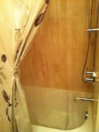 Bono Sugerencia: También lo utilizo en la ducha niños. La clara cortina protectora ducha hace el trabajo y puedo ver a los niños mientras están en la bañera. Una solución ganar-ganar a una situación mojado.