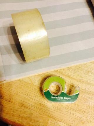 Puede utilizar la cinta, de cualquier tamaño, grapas o pegamento, cualquier tipo que usted elija, para cerrar el área superpuesta.