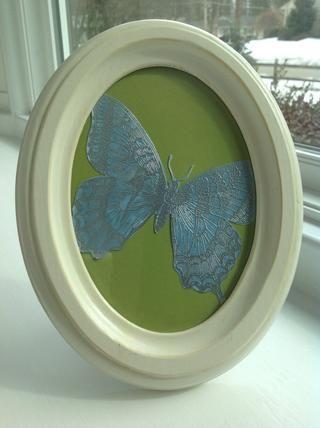 Aquí es un proyecto de decoración del hogar completado con g esta hermosa mariposa de Swallowtail